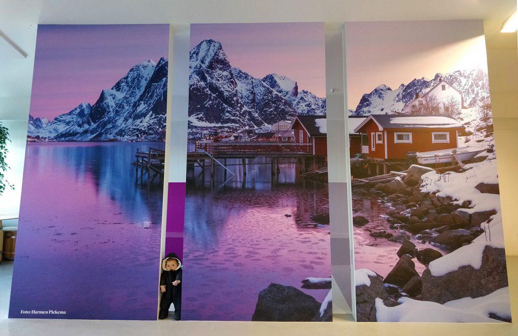 My photo as mural in a museum on Lofoten!!