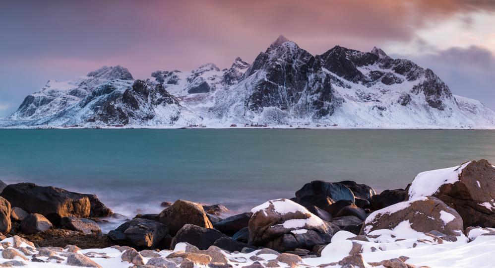 Longexposure panorama op de Lofoten   Landschapsfotograaf Harmen Piekema