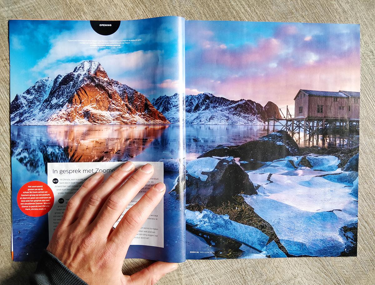 Publicatie Zoom Magazine | Landschapsfotograaf Harmen Piekema