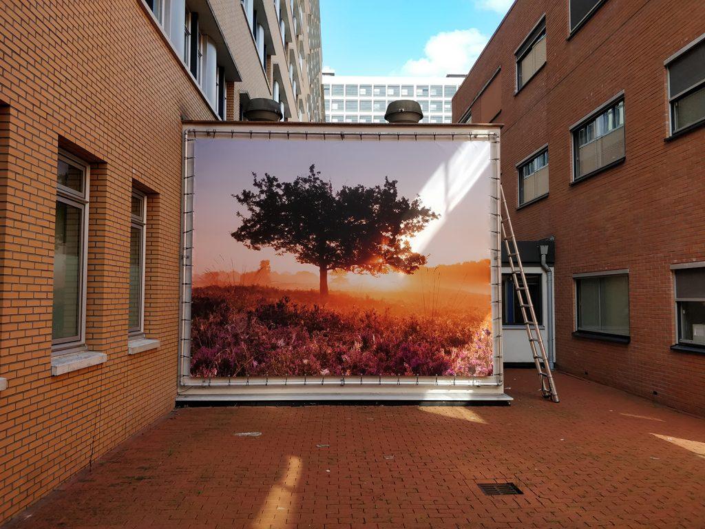 Fantastische Ultra grote print in ziekenhuis Groningen