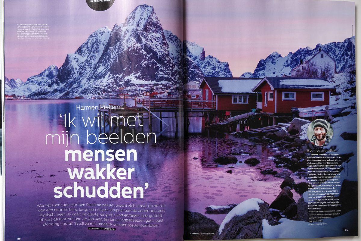 Interview in Zoom Magazine   Landschapsfotograaf Harmen Piekema