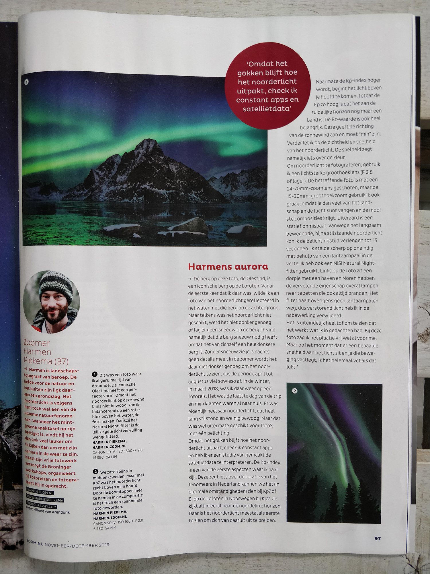 Interview Zoom Magazine | Landschapsfotograaf Harmen Piekema