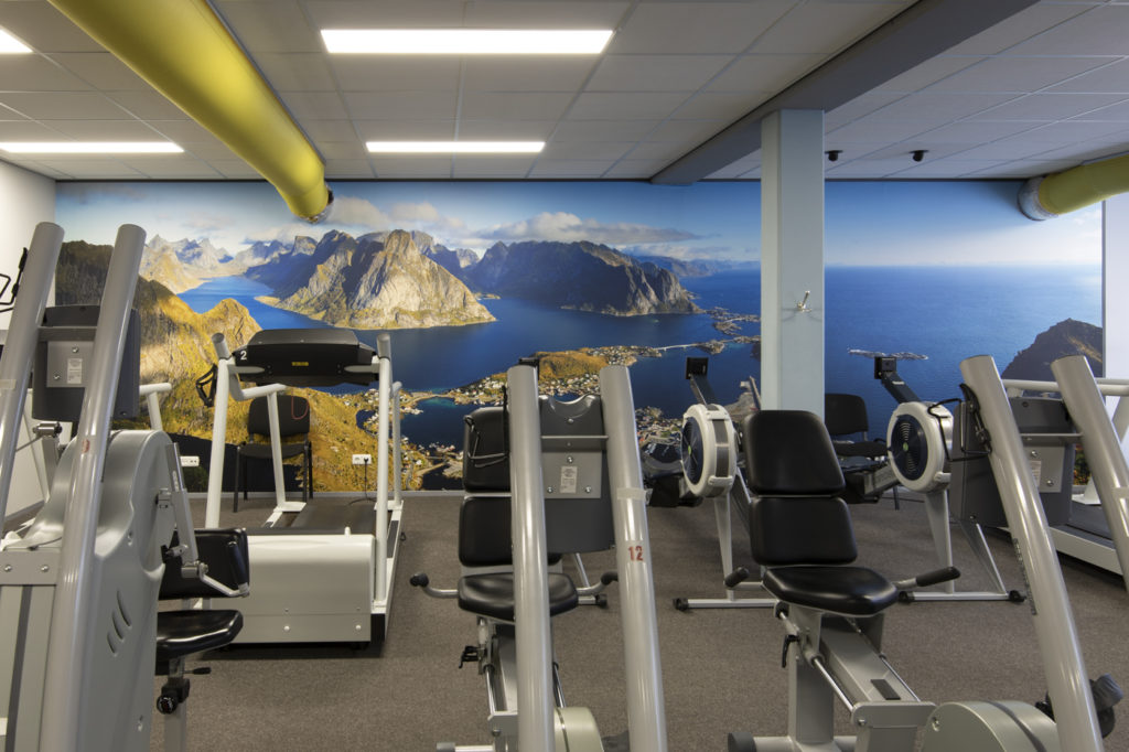 Mega prints in fitness ruimte