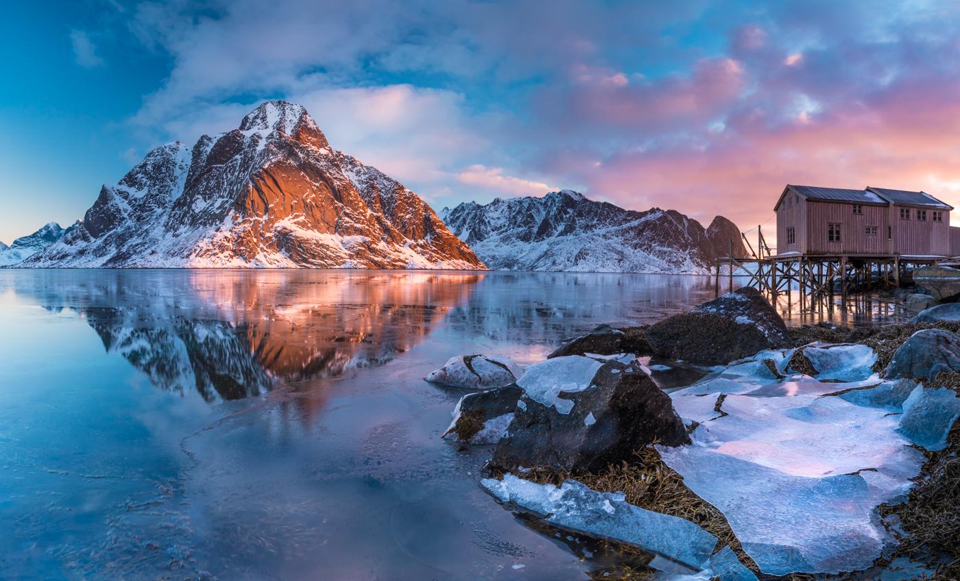 Reflectie in het Reinefjord | Landschapsfotograaf Harmen Piekema