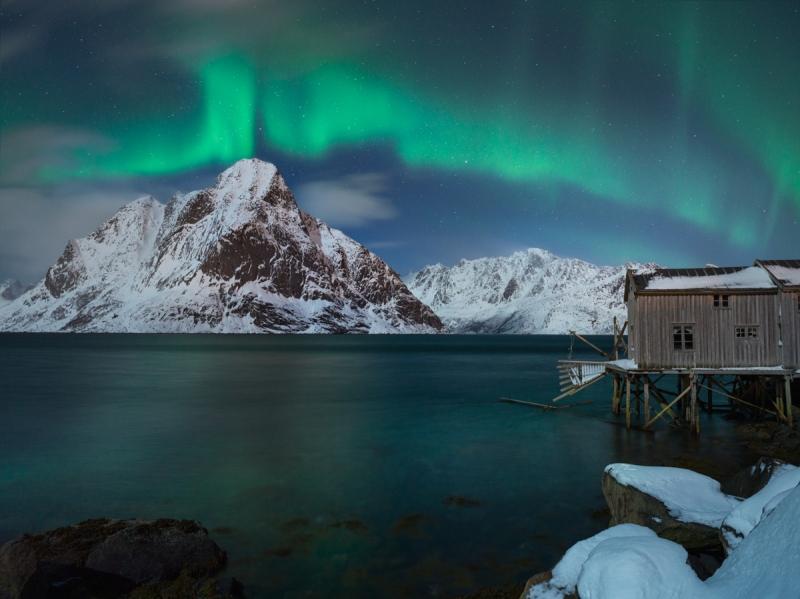 Aurora Borealis door Groninger landschapsfotograaf Harmen Piekema