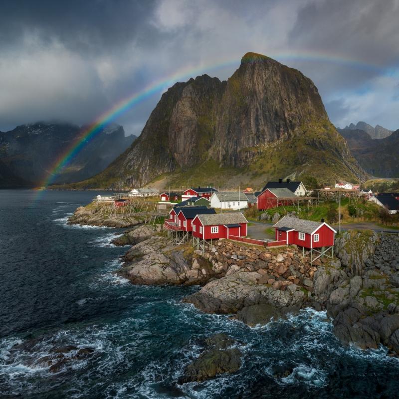 Rainbow door Groninger landschapsfotograaf Harmen Piekema